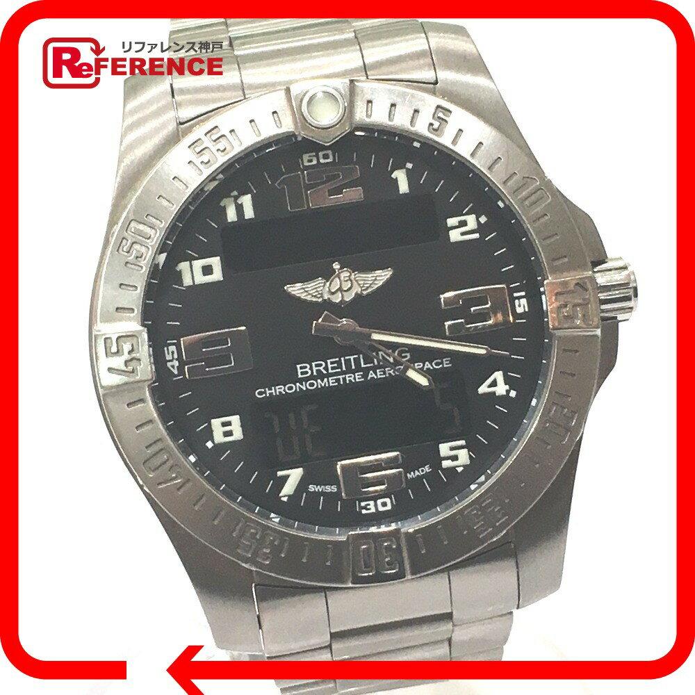 BREITLING ブライトリング E79363 メンズ腕時計 エアロスペース エヴォ 腕時計 チタン チタンシルバー メンズ【中古】