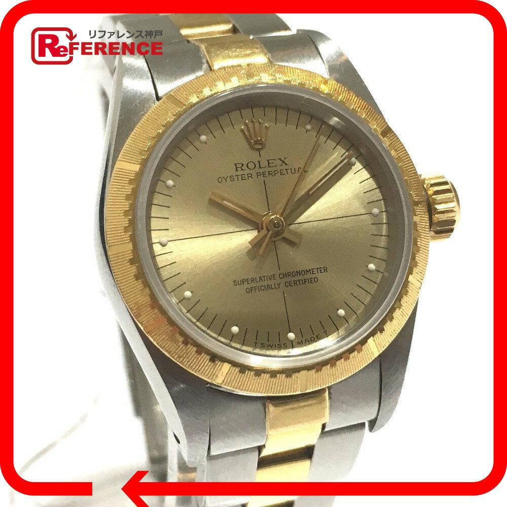 ROLEX ロレックス 67243 レディース腕時計 ゼファー オイスターパーペチュアル コンビ 腕時計 K18YG/SS ゴールド レディース【中古】