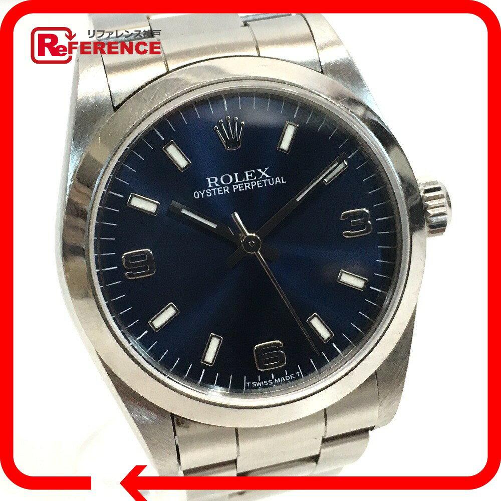 ROLEX ロレックス 77080 メンズ レディース オイスターパーペチュアル 腕時計 SS シルバー ボーイズ【中古】