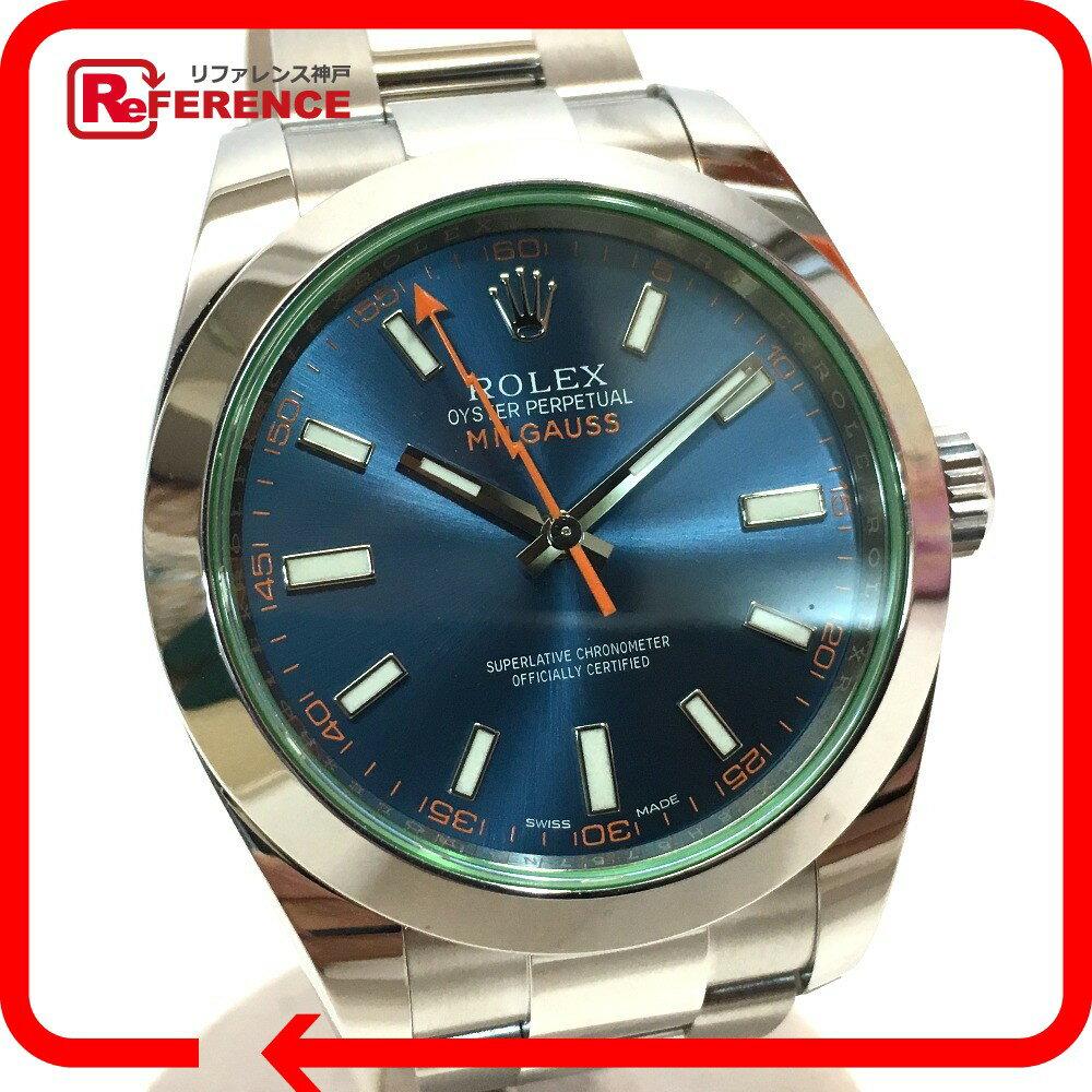 ROLEX ロレックス 116400GV メンズ腕時計 オイスターパーペチュアル ミルガウス 腕時計 SS シルバー メンズ 未使用【中古】