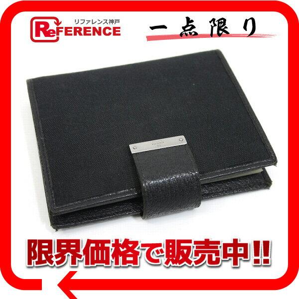 GUCCI グッチ 115240 ステーショナリー メンズ レディース 手帳カバー GGキャンバス ブラック ユニセックス【中古】
