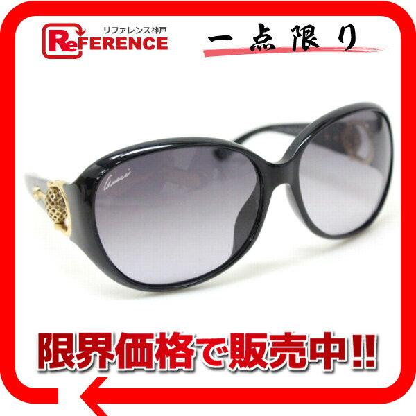 GUCCI グッチ GG3726/F/S メンズ レディース ホースビット サングラス プラスチック ブラック ユニセックス 新品同様【中古】
