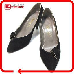 YVES SAINT LAURENT Yves聖羅蘭鞋YSL女用淺口無扣無帶皮鞋反毛皮革黑色女士