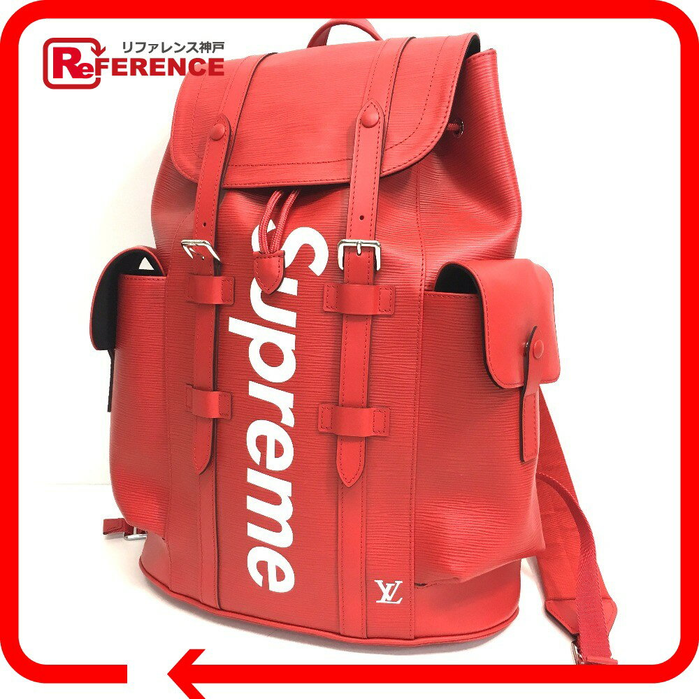 LOUIS VUITTON ルイ・ヴィトン M53414 17AW Supreme Louis Vuitton christopher backpack pm red エピ クリストファーPM バックパック ルイヴィトン×シュプリーム リュック・デイパック エピレザー レッド ユニセックス【新品】