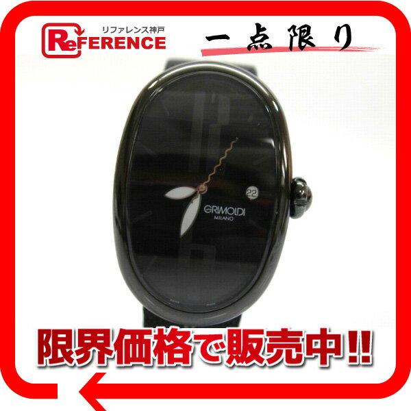 GRIMOLDI グリモルディ メンズ腕時計 ブラックジャック ボルゴノーヴォ 腕時計/PVDブラック/スティングレイベルト(社外) メンズ【中古】