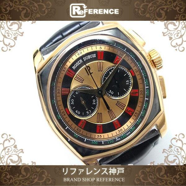 ROGER DUBUIS ロジェ・デュブイ メンズ腕時計 ビッグナンバー モネガスク 腕時計 K18ローズゴールド/ブラックアリゲーターベルト メンズ 未使用【中古】