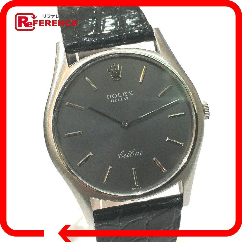 ROLEX ロレックス メンズ腕時計 レディース腕時計 チェリーニ 腕時計 K18WG/クロコ革ベルト ホワイトゴールド ボーイズ【中古】