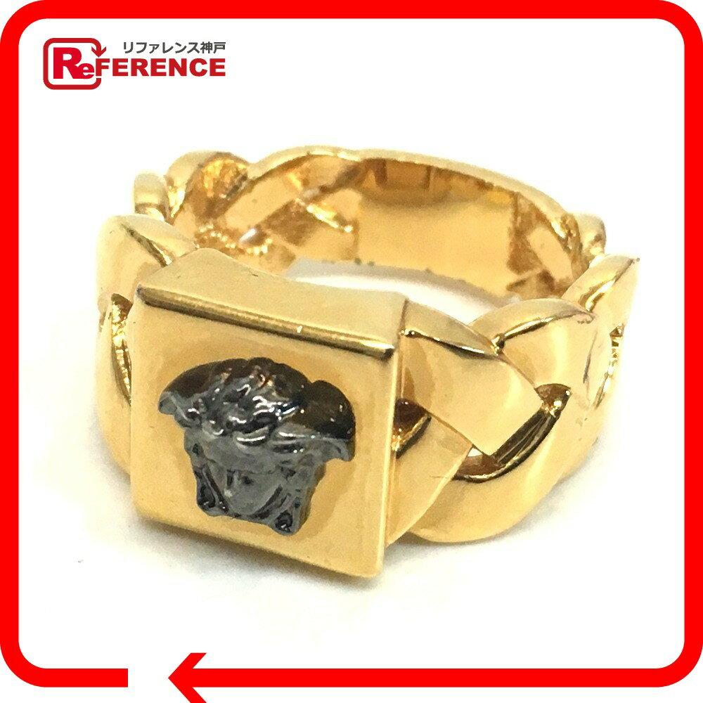 VERSACE ヴェルサーチ メンズリング ブライデッド メデューサ リング・指輪 17.5号 ゴールド メンズ 新品同様【中古】