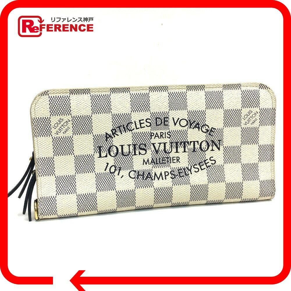 LOUIS VUITTON ルイ・ヴィトン N63115 メンズ レディース ポルトフォイユ・アンソリット ダミエアズール 長財布 二つ折り財布(小銭入れあり) ダミエアズールキャンバス レディース【中古】