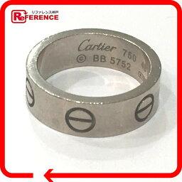 CARTIER卡地亞LOVE愛環環、戒指K18WG 7.5號白色合金