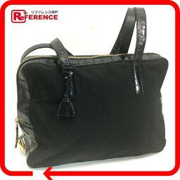 PRADA普拉達B5071標識銘牌黑共陰模壓製,是皮革挎包尼龍×皮革黑色男女兩用
