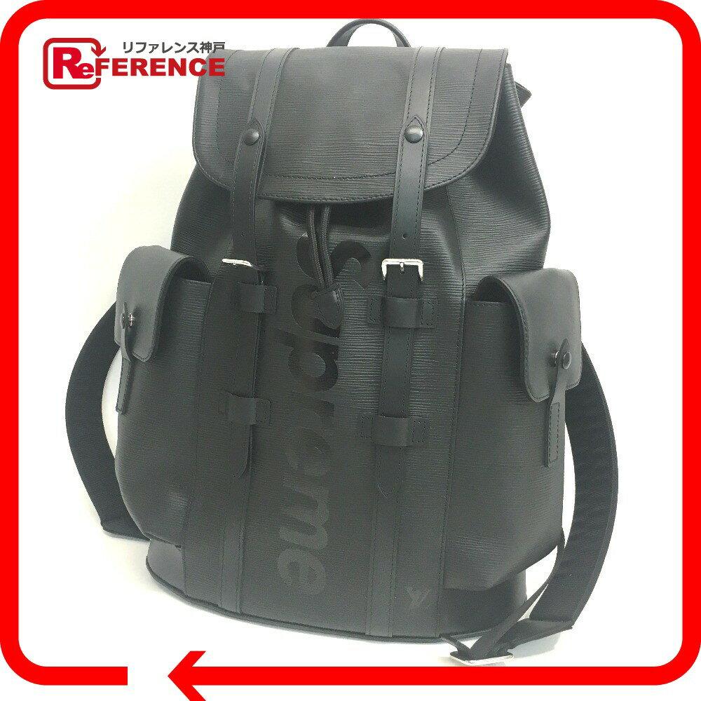 LOUIS VUITTON ルイ・ヴィトン M53413 17aw Supreme Louis Vuitton christopher backpack pm black エピ クリストファーPM バックパック ルイヴィトン×シュプリーム リュック・デイパック エピレザー ブラック ユニセックス【新品】
