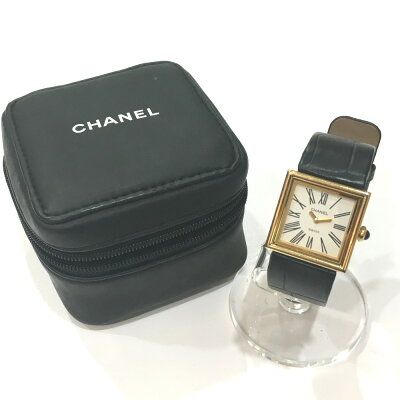 CHANEL シャネル  H0879 レディース腕時計 マドモアゼル 腕時計 K18YG/クロコ革ベルト イエローゴールド レディース【中古】