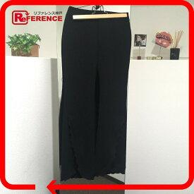 LE CIEL BLEU ルシェルブルー デザインパンツ 裾ラッフル ヘムフリルトラウザー パンツ ブラック レディース【中古】
