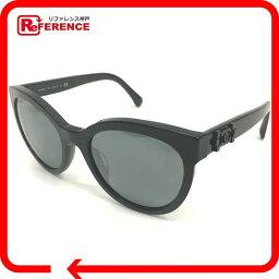 CHANEL香奈爾5315-A局樣子平滑透鏡CC這裏標記太陽眼鏡塑料黑色男女兩用