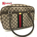 237505a50a32 GUCCI Gucci 378.002.4471 tote bag old Gucci sherry line GG plus handbag PVC  X leather   beige Lady s
