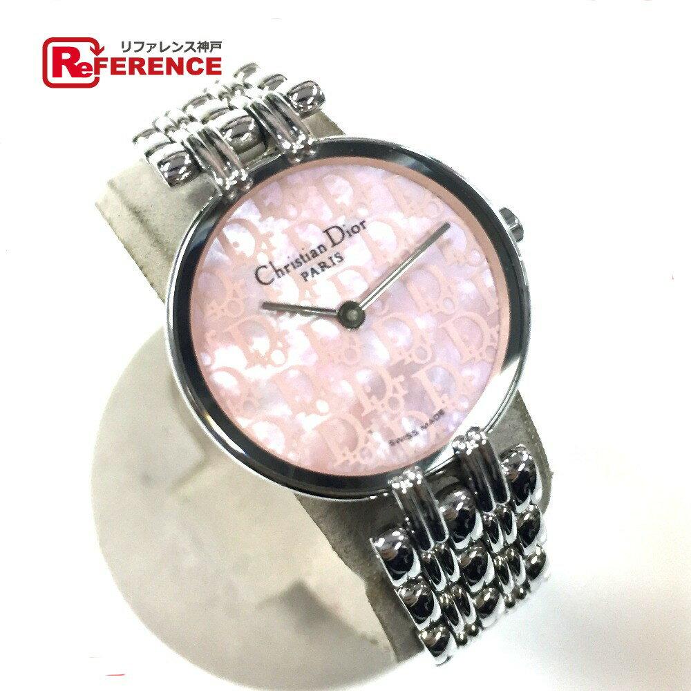 Christian Dior クリスチャンディオール D44-120 バギラ 腕時計 SS/ シルバー レディース【中古】