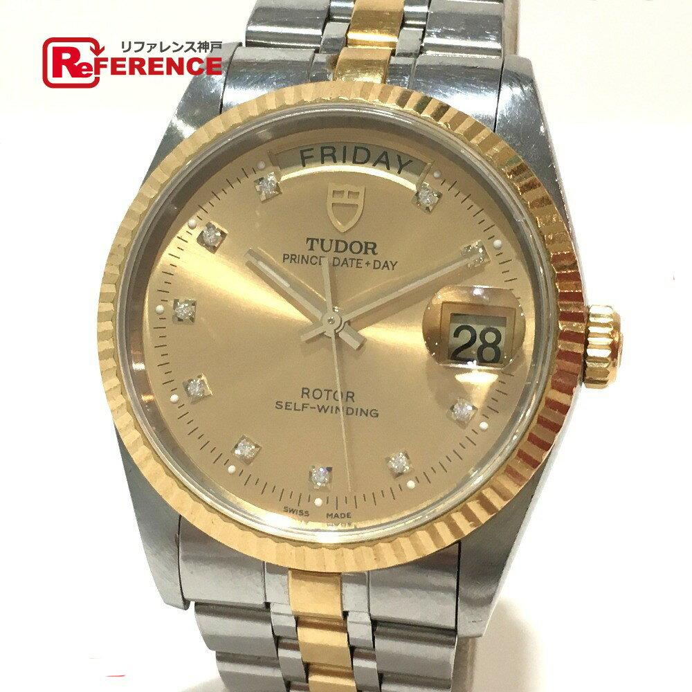 TUDOR チュードル 76213G メンズ腕時計 プリンス デイデイト 10Pダイヤ 腕時計 SS/K18YG イエローゴールド メンズ【中古】