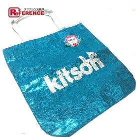 kitson キットソン トートバッグ ロゴ ショルダーバッグ スパンコール/パテントレザー ブルー レディース【中古】