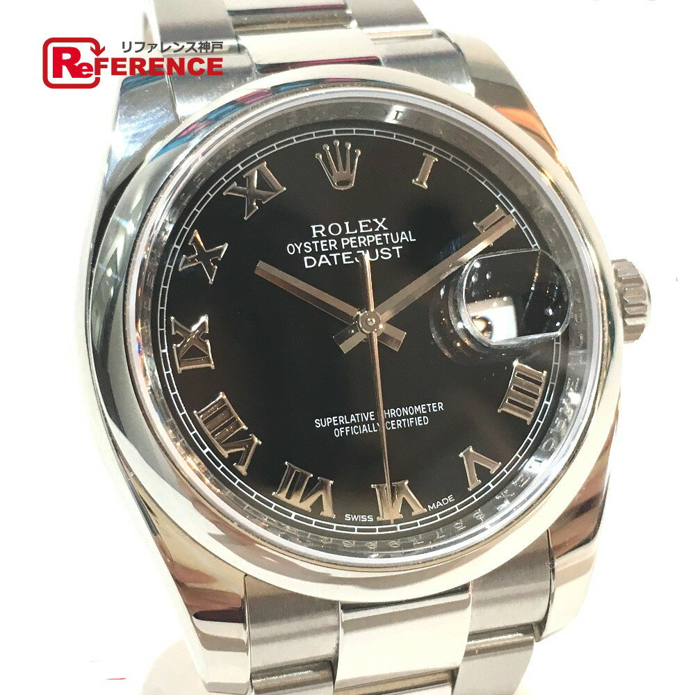 ROLEX ロレックス 116200 メンズ腕時計 デイトジャスト オイスターパーペチュアル 腕時計 SS シルバー メンズ【中古】