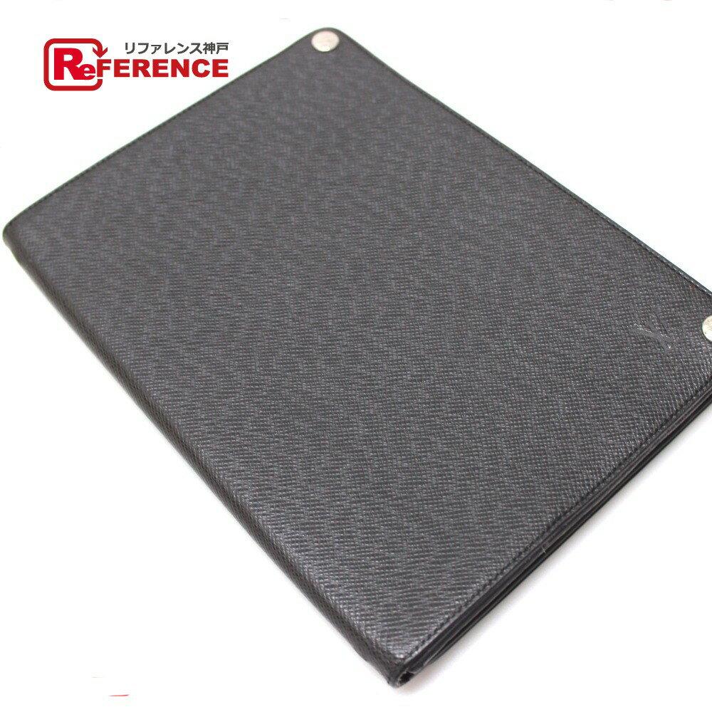 LOUIS VUITTON ルイ・ヴィトン M93804 メンズ レディース エテュイiPad タイガ iPadケース タイガレザー アルドワーズ ブラック ユニセックス【中古】