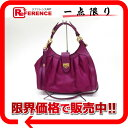 ffecf4755b62 AUTHENTIC Salvatore Ferragamo Gancini Hand Bag Shoulder Bag purple Leather