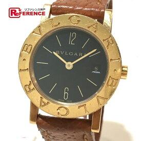 BVLGARI ブルガリ BB26GL レディース腕時計 ブルガリ・ブルガリ 腕時計 K18YG/革ベルト イエローゴールド レディース【中古】