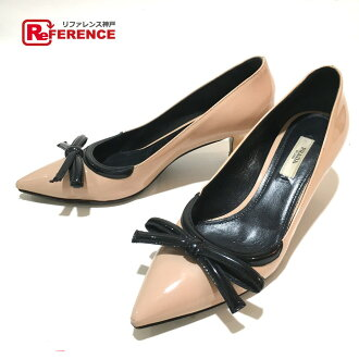 d33c2829a Categories. « All Categories · Shoes · Women's Shoes · Pumps · AUTHENTIC  PRADA High heels Ribbon motif ...