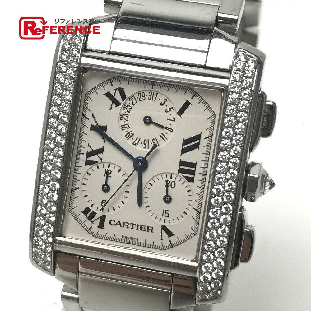 CARTIER カルティエ W51001Q3 メンズ腕時計 ジャンク品 タンクフランセーズLM クロノリフレックス 腕時計 SS シルバー メンズ【中古】