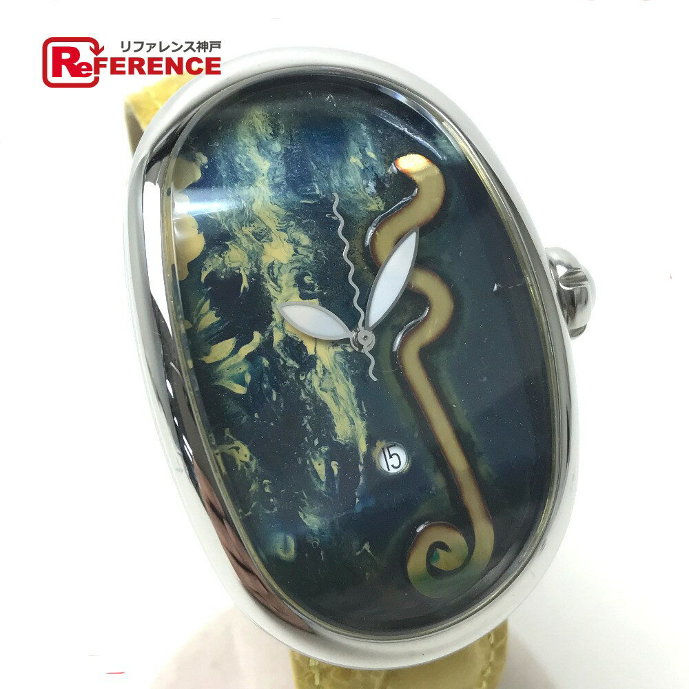 GRIMOLDI グリモルディ エリアコレクション 世界限定1本 ボルゴノーヴォ 腕時計 SS//クロコベルト シルバー メンズ【中古】