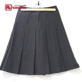 QUEENS COURT クイーンズコート プリーツスカート スカート ブラック レディース【中古】