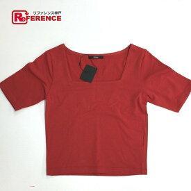 EMODA エモダ 半袖Tシャツ ショート丈 半袖Tシャツ レッド レディース 未使用【中古】