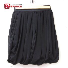 DOUBLE STANDARD CLOTHING ダブルスタンダードクロージング シフォン スカート ブラック レディース【中古】
