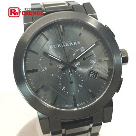 BURBERRY バーバリー BU9354 メンズ腕時計 クォーツ クロノグラフ シティ 腕時計 メタル ガンメタル メンズ【中古】