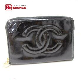 226df517a0ad CHANEL シャネル ラウンドファスナー長財布 CC 長財布(小銭入れあり) エナメル ブラック