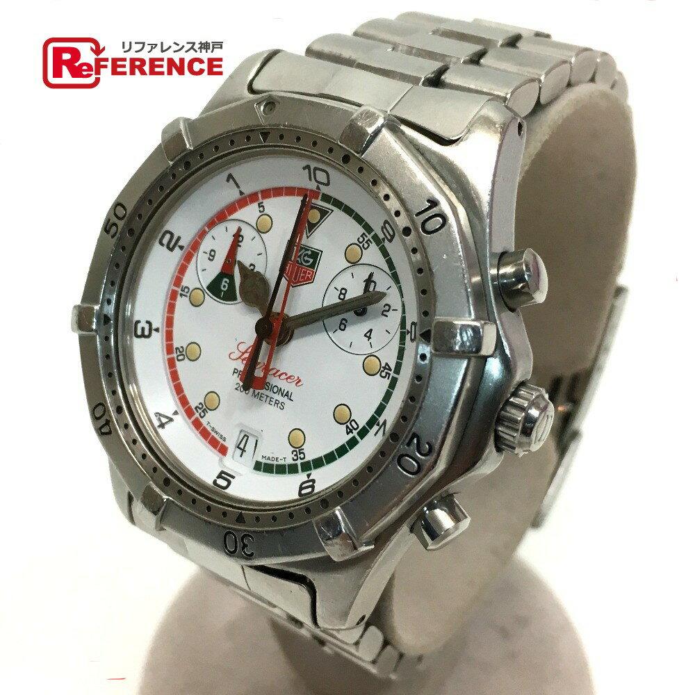 TAG HEUER タグホイヤー CK111R メンズ腕時計 クロノグラ クオーツ シーレーサー 腕時計 SS/ シルバー メンズ【中古】
