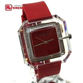 df999e5175a7 FURLA フルラ レディース 腕時計 ベルト 腕時計 SS/ラバー クリア×レッド レディース【中古】
