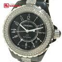 87974fb17e99 AUTHENTIC CHANEL Diamond Bezel Center Diamond Belt J12 Men's Watch  Wristwatch Black Black Ceramic/Diamond Mondo H1339