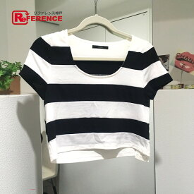 DURAS デュラス トップス ボーダー ショート丈 半袖Tシャツ ブラック レディース 新品同様【中古】