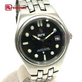 7ecb46f87c MUSK ムスク メンズ腕時計 オートクオーツ 腕時計 SS シルバー メンズ【中古】