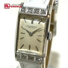 IWC インターナショナルウォッチカンパニー レディース腕時計 レクタンギュラー 8Pダイヤ 腕時計 Pt850 プラチナ レディース【中古】