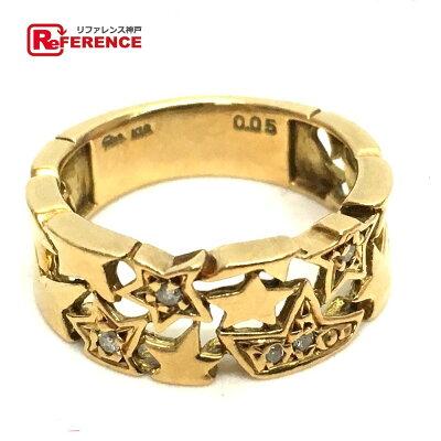 STAR JEWELRY スタージュエリー  スターリング 2002年Xmas限定デザイン K18 D0.05ct リング・指輪 K18/ ダイヤモンド 10号 ゴールド レディース【中古】