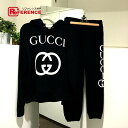 6ec5b58ba267 AUTHENTIC GUCCI Sweat top and bottom set 18 AW Interlocking G Pullover  Parka   Pants setup black 475374 X3Q25