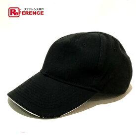 BALENCIAGA バレンシアガ ベースボール キャップ帽 europa ヨーロッパ ロゴ刺繍 タグ有 帽子 コットン ブラック×レッド メンズ【中古】