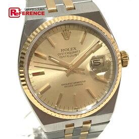 b77e94beca 中古 ROLEX ロレックス 17013 メンズ腕時計 オイスタークォーツ デイトジャスト コンビ 腕時計 K18YG/SS シルバー メンズ【中古】