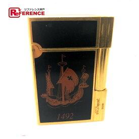 S.T.Dupont エス・テー・デュポン 1492 ガスライター ギャッツビー ガスライター コロンブス アメリカ大陸500周年記念限定 ライター 真鍮/ ゴールド メンズ【中古】