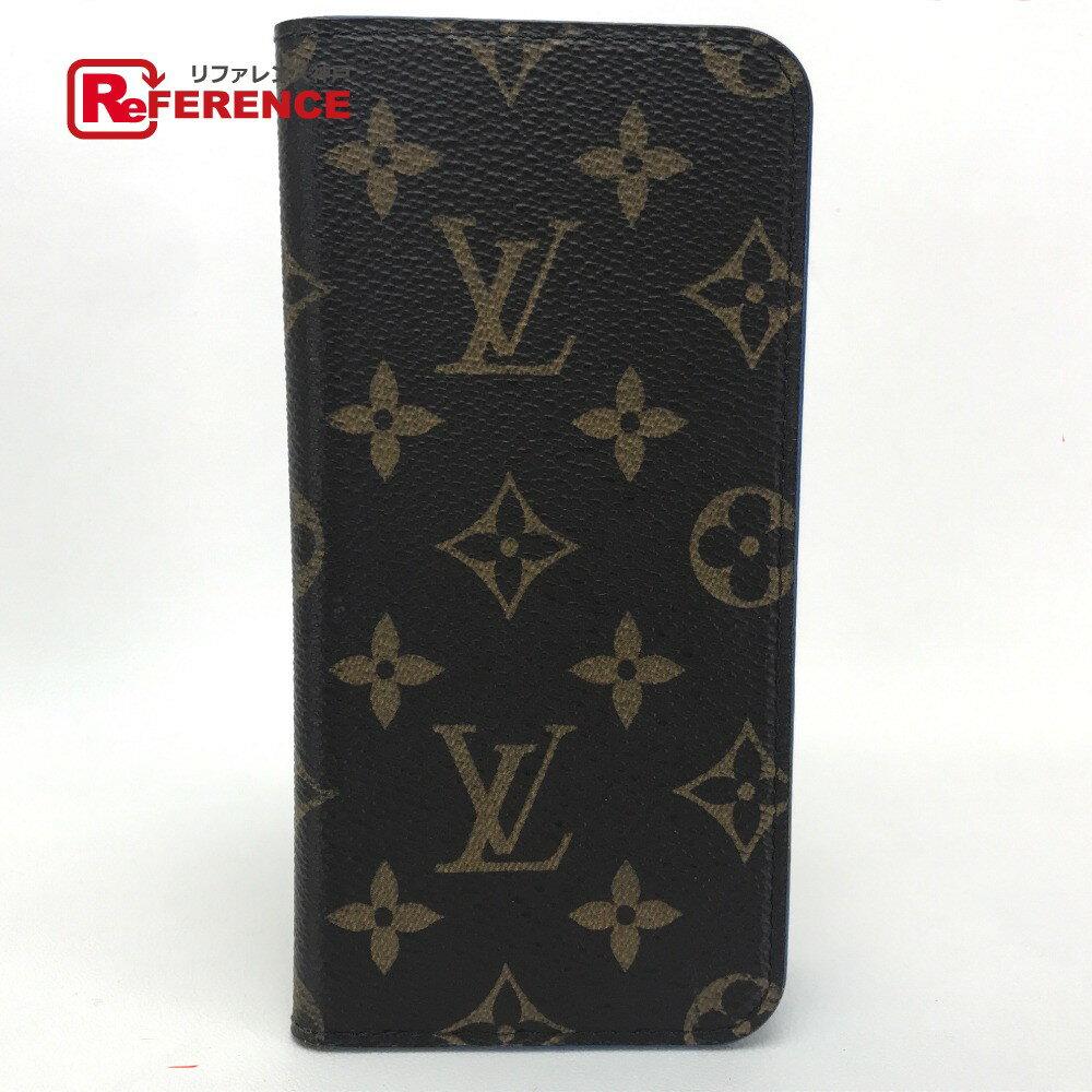 LOUIS VUITTON ルイ・ヴィトン M61632 アイフォン カバー  iphone6プラス plus iphone6+・フォリオ モノグラム iPhoneケース モノグラムキャンバス/ ブルー レディース【中古】