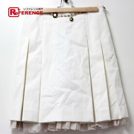 CELINE セリーヌ ボトムス チェーン付き アパレル スカート ホワイト レディース【中古】