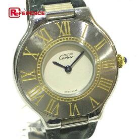 CARTIER カルティエ レディース腕時計 マスト21 ヴァンティアン 腕時計 SS/革ベルト シルバー レディース【中古】