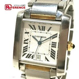 CARTIER カルティエ W51005Q4 タンクフランセーズLM コンビ デイト メンズ腕時計 腕時計 K18YG/SS イエローゴールド×シルバー メンズ【中古】